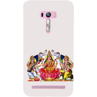 ifasho Laxmi Saraswati and Ganesh Back Case Cover for Asus Zenfone Selfie