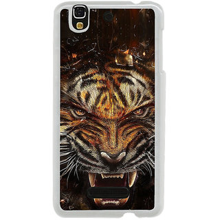 ifasho Roaring Tiger  Back Case Cover for Yureka