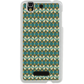 ifasho Animated Pattern design colorful flower in royal style with lines Back Case Cover for Yureka