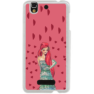 ifasho Cute Girl animated Back Case Cover for Yureka