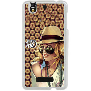 ifasho Look at me Girl Back Case Cover for Yureka