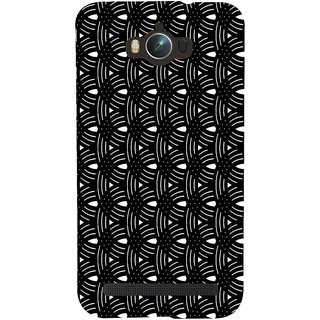 ifasho Animated Pattern design black and white semi circle in royal style Back Case Cover for Asus Zenfone Max