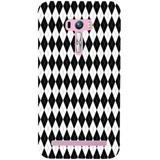 ifasho Animated Pattern of Chevron Arrows royal style Back Case Cover for Asus Zenfone Selfie