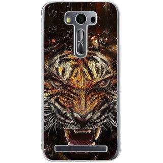ifasho Roaring Tiger  Back Case Cover for Zenfone 2 Laser ZE500KL