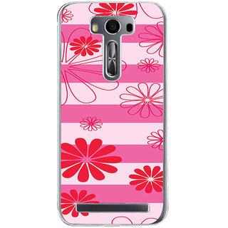 ifasho Modern Art Design animated cloth Pattern of flower Back Case Cover for Zenfone 2 Laser ZE500KL