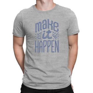 Desi Swag Gray Round Neck Half Sleeve T-Shirt for Men