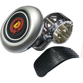AutoPop Premium Quality Silver Steering Knob for - Hyundai Eon