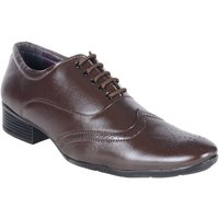 Shoeniverse Mens Brown Brogue Shoes