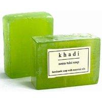 Khadi Natural Khadi Neem Tulsi Soap - Pack of 2  (125 g)