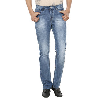 Fever Light Blue Cotton Denim Solid Jeans