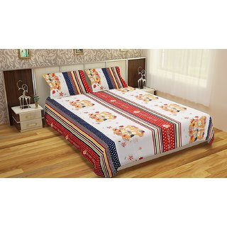 Polycotton double Bedsheet  with 2 pillow covers BD-36