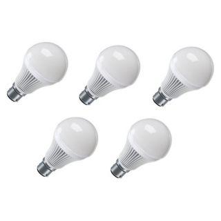 OOZELED 5 Watt LED Bulb,White Light (Combo of 5 bulbs)