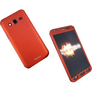 RED colour 360 degree full body protector case cover for Samsung Galaxy J2 ( includes front  back cover  sc