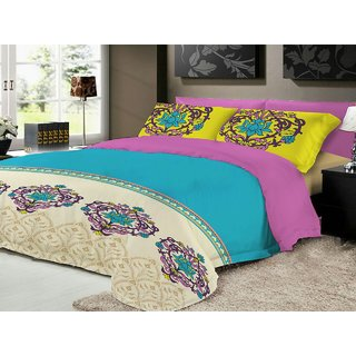 AryaahiCreation - Pure cotton king size bed sheet with attractive design and fine quality