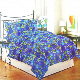 Bombay Dyeing Premium Cotton Double Bedsheet with 2 Pillow Covers