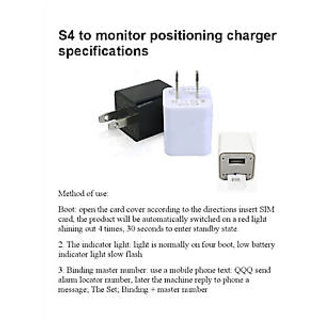 Mini SIM Card GSM Bug Audio Monitoring Two Way GSM Security Alarm Surveillance in S4 USB Charger