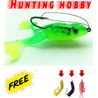 Bottom Water Frog With Hook Free 3 Soft Lures Use In Fishing Rod