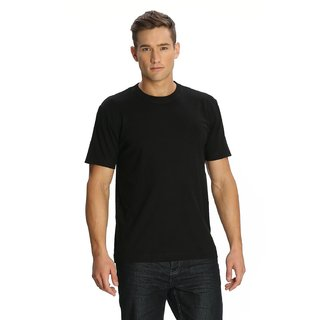Men's Cotton Round Neck Tshirt's (Black)