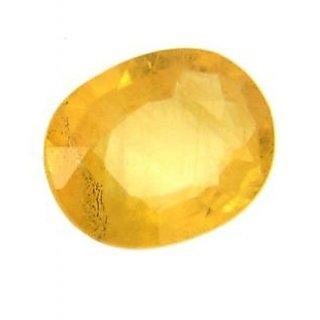 Om gyatri 7.25 ratti Yellow Sapphire Ceylon Mined Pukhraj
