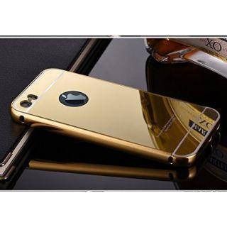 ACCWORLD Luxury Mirror Aluminium Metal Bumper Back Cover Case For Apple iPhone 5C (Gold)