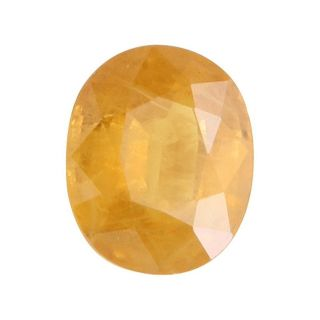 Om gyatri Yellow Sapphire 6.50 Ratti Certified Good Quality