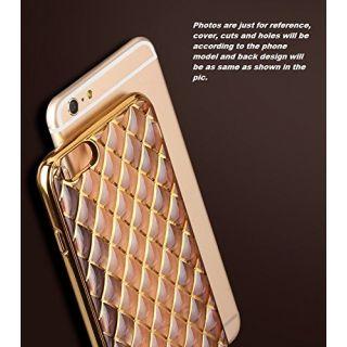 ACCWORLD Diamond Cut Zig Zag Back Cover For Apple I Phone 5/5S (Golden)
