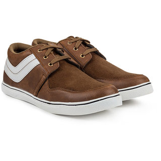 Golden Sparrow Mens Brown Lace-up Casual Shoes