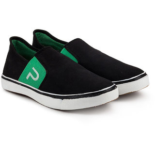 Golden Sparrow Mens Green Slip on Casual Shoes