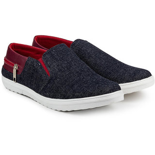 Golden Sparrow Mens Maroon Slip on Casual Shoes