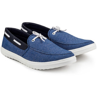 Golden Sparrow Mens Blue Slip on Casual Shoes