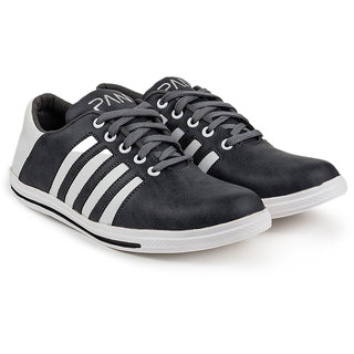 Golden Sparrow Mens Gray Lace-up Casual Shoes