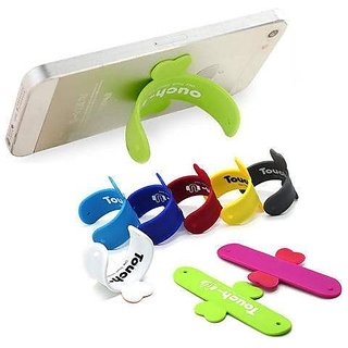Combo of 5 Touch-U One Touch Silicone Stand Suitable For All Mobiles ( Mix colours)