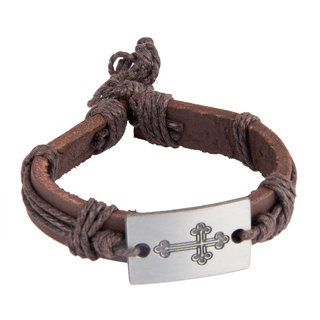 Diva Walk brown leather bracelet-00960
