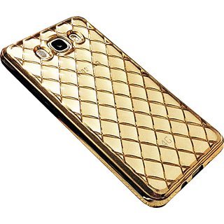 ACCWORLD Designer Diamond Pattern Soft Back Case Cover for Samsung Galaxy J7 (Gold)