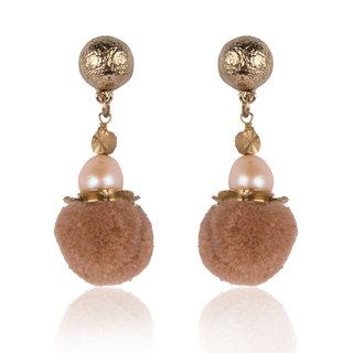 Diva Walk brown alloy  earring-00920