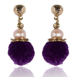 Diva Walk purple alloy  earring-00926