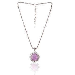 Diva Walk purple alloy necklace-00930