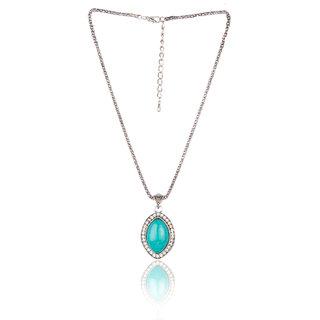 Diva Walk blue alloy necklace-00937