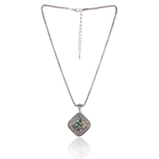 Diva Walk silver alloy necklace-00939