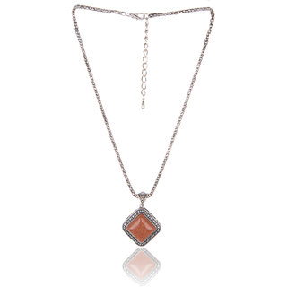 Diva Walk brown alloy necklace-00941