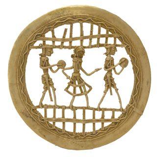 Unique Bastar Art Round Couple Frame Handicraft by Bharat Haat BH05683