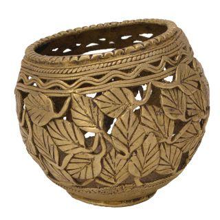 Brass Beautiful Bastar Handicraft Pen Holder Handicraft by  Bharat Haat BH05685