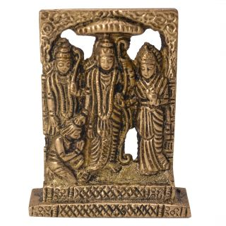 Ram Darbar Idol Rama Sita Laxman Idol Decorative  Handicraft Worshipping Piece by Bharat Haat BH05755
