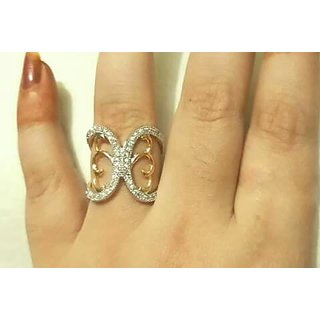 Delight Rhodium Plated Solitare Ring For Women