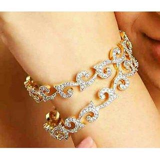 Fashion Rose Gold Crystal Charm Bracelet for Girls