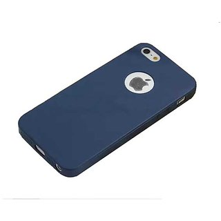 VSDEALS Silicon Soft Back Cover For Apple iPhone 5  5S (4.7) - Dark Navy Blue