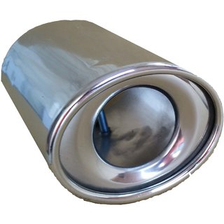 AutoPop Stainless Steel Exhaust Muffler Silencer Cover for Renault Duster