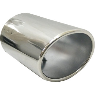 AutoPop Stainless Steel Exhaust Muffler Silencer Cover for New Mahindra Scorpio
