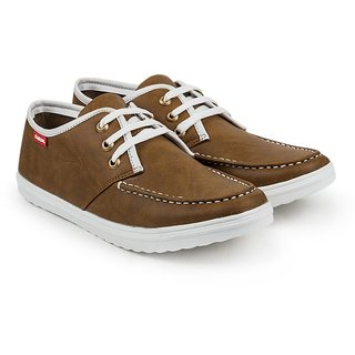 Golden Sparrow Mens Tan Lace-up Casual Shoes