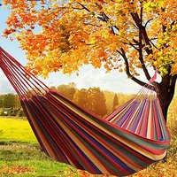 FOLDABLE DOUBLE SIZE PURE COTTON ROPE HANGING HAMMOCK SWING CAMPING COTTON BED.